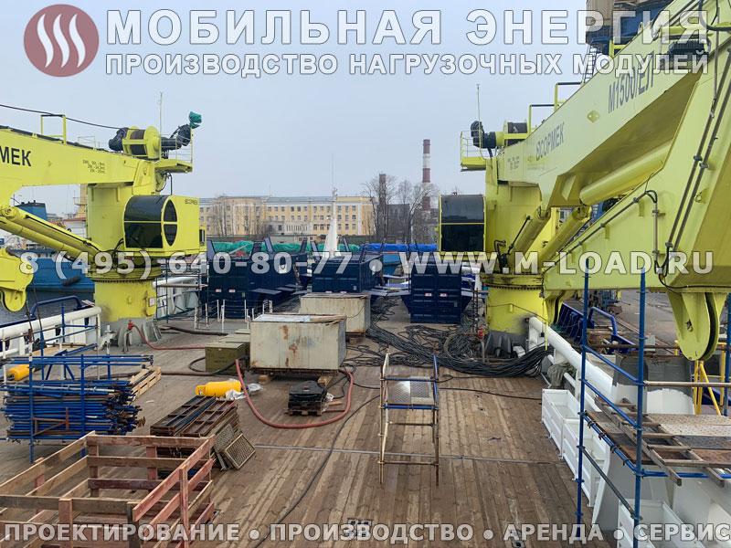 Нагрузочный комплекс 12 МВт (15 МВА) с напряжением 0.4-0.69 кВ для судостроительного завода