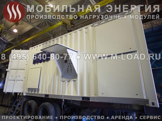 Нагрузочный модуль 3 МВт (20 кВ) в контейнере для испытаний газопоршневых электростанций