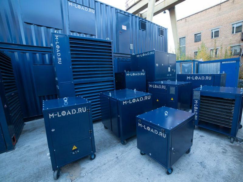 Резистивный нагрузочный модуль 800 кВт для испытаний электростанций