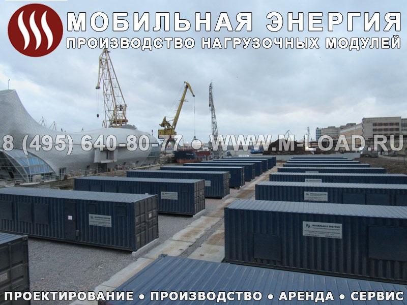 Нагрузочный комплекс в контейнерах 8000 кВт для тестирования электростанций