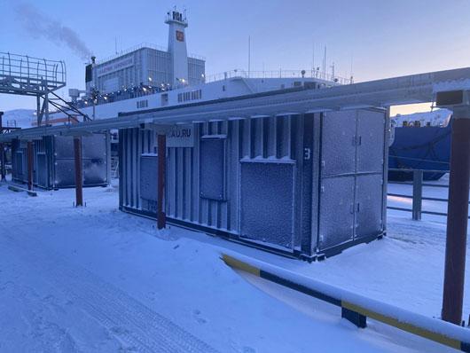 ПАТЭС «Академик Ломоносов» с нагрузочными модулями M-LOAD 16 МВт 10.5 кВ начала работу на Чукотке